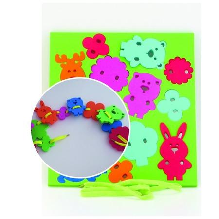 Купить Игра развивающая для малыша El Basco «Шнуровка. Животные»