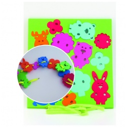 фото Игра развивающая для малыша El Basco «Шнуровка. Животные»