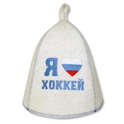 фото Шапка банная EVA «Я люблю хоккей»