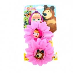 фото Резинка для волос Маша и Медведь «Цветок». Цвет: розовый
