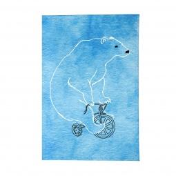 Купить Обложка для паспорта Mitya Veselkov «Мишка на велосипеде»