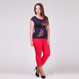 фото Брюки женские Milana Style «Виктория». Цвет: красный. Размер одежды: 56