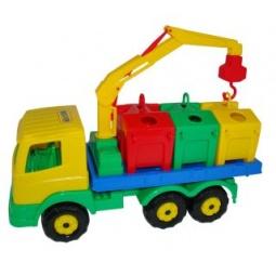 фото Машинка игрушечная Полесье «Контейнеровоз»