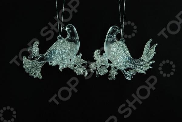 Елочное украшение Crystal Deco «Голубь» 1707672. В ассортименте