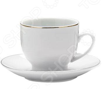 Кофейный набор Loraine LR-25610Чайные и кофейные наборы<br>Набор кофейный Loraine LR-25610 отличается своим изысканным дизайном, прочностью и функциональностью. Несмотря на свою внешнюю хрупкость, каждый из предметов набор облает высокой прочностью и надежностью. Аккуратные чашечки и блюдца выполнены из высококачественной керамики - материала безопасного для здоровья и надолго сохраняющего тепло напитка. Элегантный, классический дизайн с золотым декором делают этот кофейный набор прекрасным украшением любого стола. Набор аккуратно упакован в подарочную упаковку, поэтому его можно преподнести в качестве оригинального и практичного подарка для своих родных и самых близких.<br>