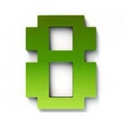 фото Дверной номерок Студия Артемия Лебедева «Дигитус» 8. Цвет: зеленый