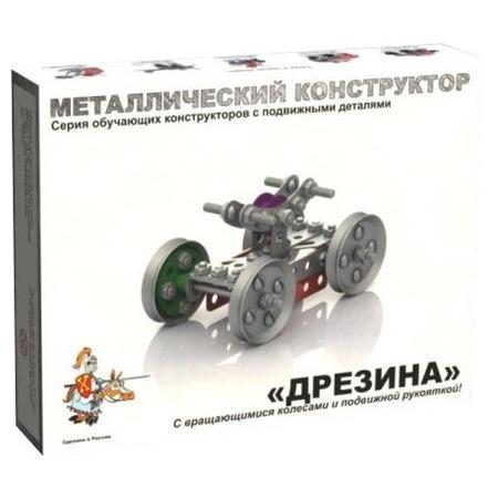 Купить Конструктор металлический Десятое королевство «Дрезина с подвижными деталями»