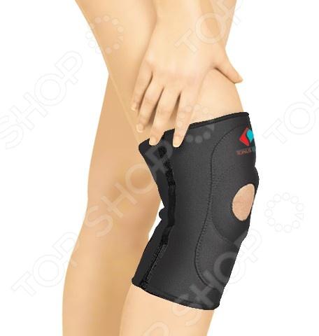 Повязка медицинская эластичная Tonus Elast для фиксации коленного сустава 9903Бандажи. Медицинские повязки<br>Tonus Elast 9903 это эластичная медицинская повязка, предназначенная для эффективной фиксации коленного сустава. Представленная модель используется в качестве лечебно-профилактического средства для защиты и поддержания в состоянии покоя связочного аппарата и мягких тканей сустава. Изделие изготовлено из неопрена, который обладает целым рядом уникальных свойств. Этот материал оказывает тепловое, микромассажное и компрессионное действие, сравнимое с живительным эффектом сауны.<br>
