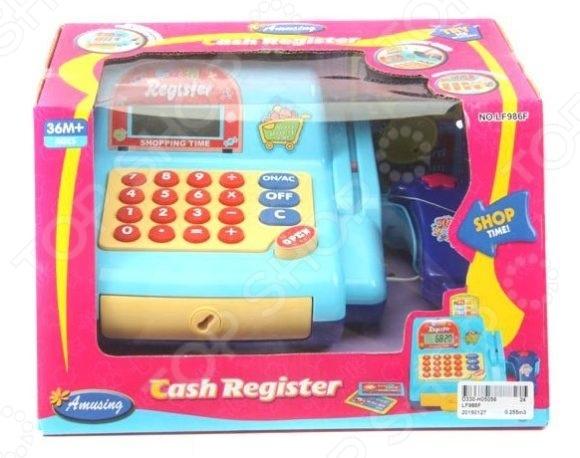 Касса игрушечная Shantou Gepai LF986FСюжетно-ролевые наборы<br>Касса игрушечная Shantou Gepai LF986F станет отличным подарком для вашего любимого чада и даст малышу возможность открыть свой собственный продуктовый магазинчик. Подобные сюжетно-ролевые игры не только увлекательны, но и весьма познавательны для ребенка, они способствуют развитию воображения, логики и понимания причинно-следственной связи. Игрушка выполнена из высококачественных, безопасных для здоровья ребенка, материалов. Рекомендовано для детей в возрасте от 3-х лет.<br>