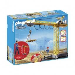 фото Игрушка на ИК управлении Playmobil «Стройка: Большой строительный кран на инфракрасном управлении»