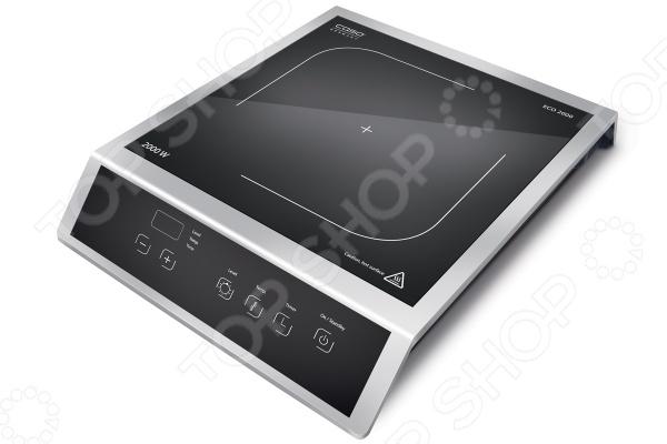 Плита настольная индукционная CASO ECO 2000Настольные плиты<br>Плита настольная CASO ECO 2000 - индукционная стеклокерамическая модель, которая станет незаменимой помощницей на любой кухне. Плита оснащена одной зоной нагрева, так же имеет сенсорное управление с дисплеем и светодиодной индикацией. Устройство очень просто в управлении, а так же не требует особого ухода, поверхность легко очищается от любых загрязнений.Варочная панель оснащена системой индукционного нагрева. Индуктор, расположенный под поверхностью, создает переменное электромагнитное поле в результате этого в дне посуды индуцируется ток, что и приводит к нагреву. Тепло образуется непосредственно в дне посуды без промежуточного нагрева конфорки.<br>