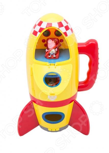 Игровой набор с фигурками Peppa Pig «Космический корабль Пеппы»Игровые наборы с персонажами мультфильмов, сказок и комиксов<br>Игровой набор с фигурками Peppa Pig Космический корабль Пеппы милые фигурки в комплекте с космическим кораблем, который обязательно понравится всем маленьким поклонникам мультфильма про свинку Пеппу. Станет прекрасной основой для различных сюжетных игр, которые так любят дети. В набор входит 3 предмета: космический корабль высотой 30 см со звуковыми эффектами реалистичные звуки взлетающей ракеты , оборудованный удобной ручкой для переноски; фигурки щенка Дэни 5 см и Джорджа 4 см , которые могут сидеть, стоять, двигать ручками и ножками. Игрушка работает от 3 батареек типа ААА в набор не входят . Игра с ним способствует развитию зрительной координации, воображения, а также мелкой моторики рук ребенка. Кроме того, тренируется наблюдательность, образное восприятие и логическое мышление. Все детали игрового набора изготовлены из высокопрочного безвредного пластика.<br>