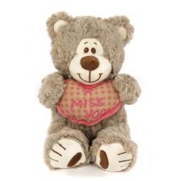 фото Мягкая игрушка Fluffy Family «Мишка Митя с сердцем». Размер: 23 см. Цвет: бежевый
