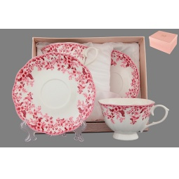 фото Чайная пара Elan Gallery «Цветочек розовый»
