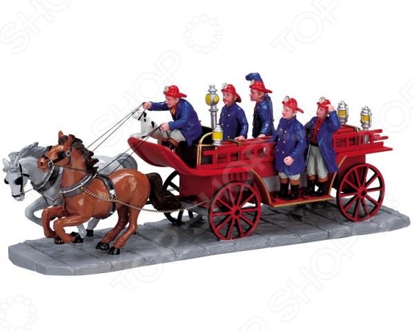 Фигурка керамическая Lemax «Пожарная повозка с лестницей» фигурка керамическая lemax продавец хот догов