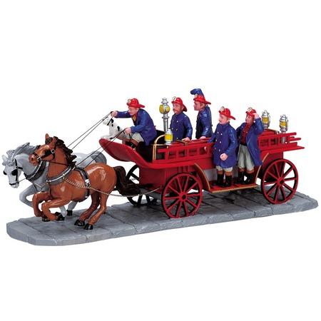 Купить Фигурка керамическая Lemax «Пожарная повозка с лестницей»