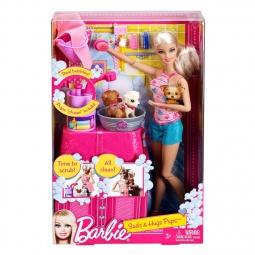 фото Набор игровой для девочек Mattel Семья Барби с домашними животными