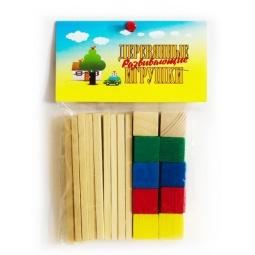 фото Набор развивающий Русские деревянные игрушки «Палочки и кубики» Д015а