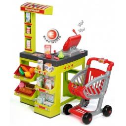 фото Игровой набор для ребенка Smoby «Супермаркет с тележкой». Цвет: зеленый