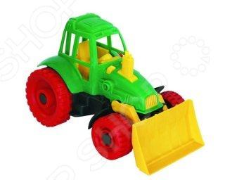 все цены на Машинка игрушечная Нордпласт «Трактор с грейдером» 06151 онлайн