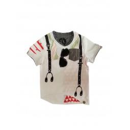 фото Футболка с аппликацией для малышей Mini Shatsu Striped Bow Tie Bachelor