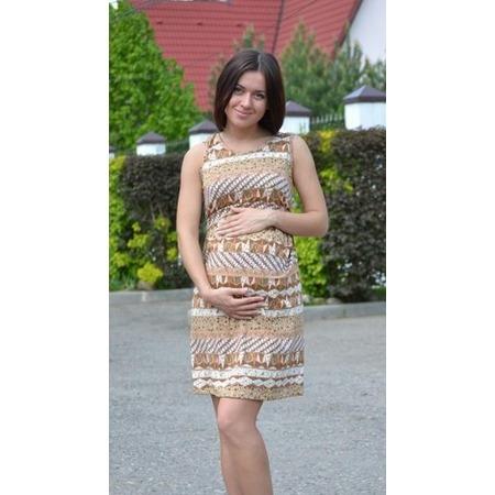 Купить Платье для беременных Nuova Vita 2107. Цвет: коричневый
