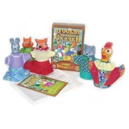 фото Набор для кукольного театра Русский стиль «Кот, Петух и Лиса»