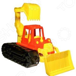 купить Машинка игрушечная Нордпласт «Трактор Байкал с грейдером и ковшом» по цене 433 рублей