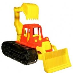 фото Машинка игрушечная Нордпласт «Трактор Байкал с грейдером и ковшом»