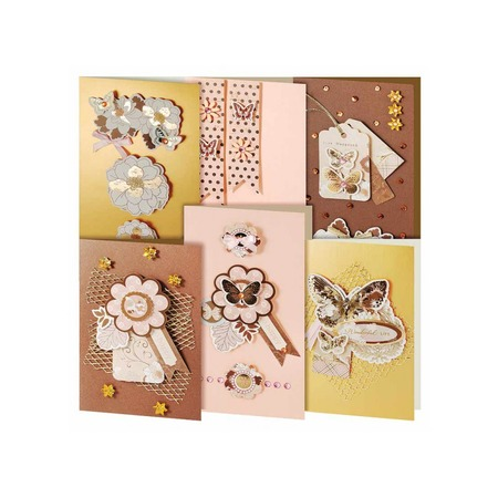 Купить Набор для создания 6-ти открыток Белоснежка «Бабочки»