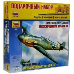 фото Подарочный набор сборной модели самолета Звезда «Мессершмитт» BF-109/F2