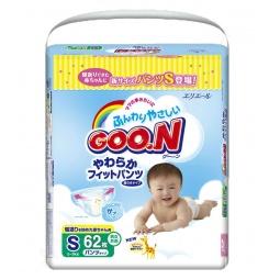 Купить Трусики-подгузники Goo.N S 5-9 кг 62 шт