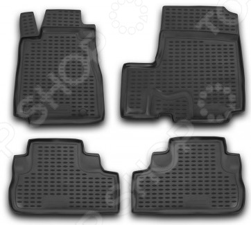 Комплект ковриков в салон автомобиля Novline-Autofamily Honda CR-V III 2007Коврики в салон<br>Комплект ковриков в салон автомобиля Novline Autofamily Honda CR-V III 2007 поможет обеспечить чистоту и комфортные условия эксплуатации вашего автомобиля. Используйте эти коврики, чтобы защитить оригинальное покрытие пола от грязи, пыли, пятен и воздействия влаги. Изделия созданы из экологически чистого полимерного материала, прошедшего строгий гигиенический контроль. Оцените основные преимущества полиуретановых ковриков Novline:  Нейтральность к агрессивному воздействую различных химических сред.  Высокая устойчивость к значительным перепадам температур в диапазоне от -50 до 50 C .  Устойчивость к воздействию ультрафиолетовых лучей.  Значительно легче резиновых аналогов. Легко очищаются от грязи, обладают повышенной износостойкостью.  Свойства материала и текстура поверхности коврика обеспечивают противоскользящий эффект.  Форма ковриков разработана с учетом особенностей конкретной марки и модели автомобиля применяется технология 3D-сканирования для максимальной точности , что избавляет владельца от необходимости их подгонки под салон своей машины. Коврики надежно фиксируются на своих местах и не смещаются.  Передняя часть водительского ковра имеет специальную форму, исключающую зацепление педали за изделие.<br>