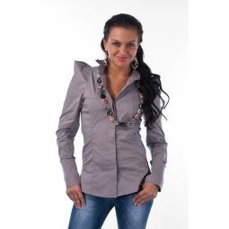 фото Блузка Mondigo 9634. Цвет: серый. Размер одежды: 44