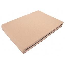 фото Простыня на резинке трикотажная ЭГО. Цвет: коричневый. Размер простыни: 90х200 см