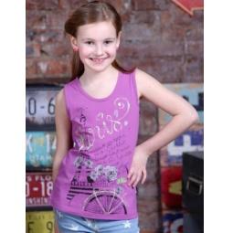 фото Майка для девочек Detiland SS15-UBL-GTS-953. Цвет: сиреневый. Рост: 128 см