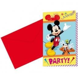 Купить Приглашения в конвертах Procos «Микки Маус на карнавале»