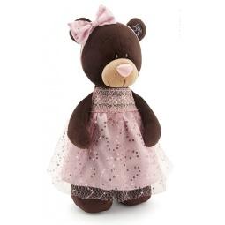 фото Мягкая игрушка Orange стоячая в платье с блестками Milk «Медведь». Размер: 30 см