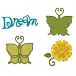 фото Набор форм для вырубки Sizzix Sizzlits Бабочки 2