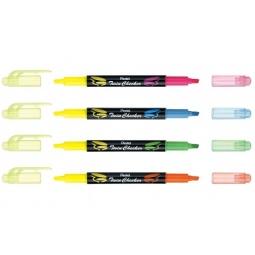 Купить Выделитель текста двухцветный Pentel Twin Checker