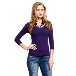 фото Кофта Mondigo 052. Цвет: темно-фиолетовый. Размер одежды: 46
