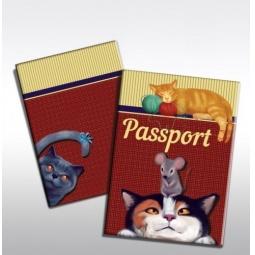 фото Обложка для паспорта Феникс-Презент «Кот с мышкой»