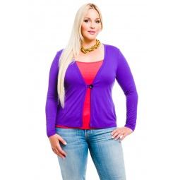 фото Жакет Mondigo XL 426. Цвет: фиолетовый. Размер одежды: 50