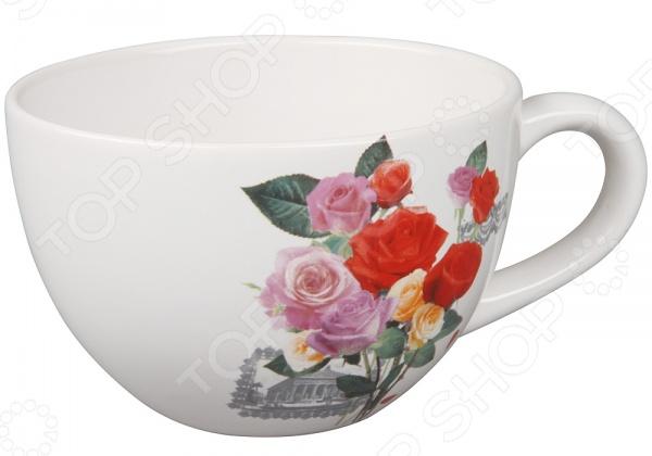 Бульонница Rosenberg 8831 - красивая и оригинальная бульонная чашка, которая станет великолепным украшением вашего обеденного стола. Изделие специально предназначено для подачи и хранения супов, борщей, бульонов и других жидких блюд. Бульонница отличается практичной и удобной формой, а специальная ручка позволит держать чашку без страха обжечься. Изделие выполнено из высококачественной керамики, которая гарантирует его долговечность и экологичность. Стильный дизайн бульонницы придется по душе даже самым требовательным хозяйкам.