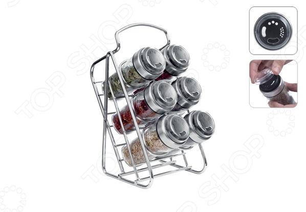 Набор емкостей для специй на наклонной подставке Nadoba Petra: 7 предметов цены онлайн