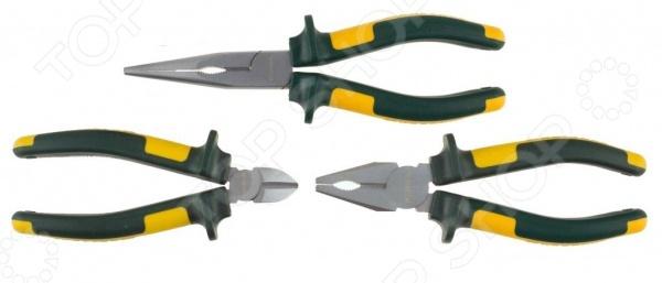 Набор губцевого инструмента Kraftool Kraft-Max 22011-H3 набор губцевого инструмента sparta 2 13545 3 предмета плоскогубцы бокорезы клещи переставные