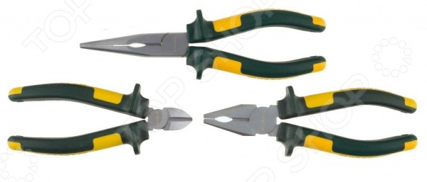 Набор губцевого инструмента Kraftool Kraft-Max 22011-H3 набор губцевых инструментов kraft max 3 штуки kraftool 22011 h3