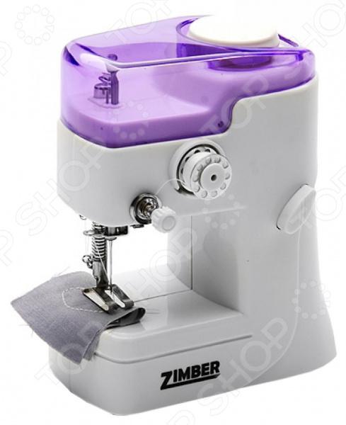 Швейная машина ручная Zimber ZM-10917Швейные машины<br>Швейная машинка ручная Zimber ZM-10917 это портативная, современная, невероятно легкая машинка для шитья и ремонта одежды. С ее помощью вы сможете подшить брюки, пришить заплатку, укоротить шторы, сшить покрывало, сделать рисунок. Этот компактный, но функциональный прибор выручит вас дома, на даче и в дороге. Кроме того, она послужит прекрасным подарком для ваших близких! Машинка работает на 4 батарейках типа АА или на сетевом адаптере переменного тока батарейки и адаптер в комплект не входят . Устройство плетет одну нитку, не имеет челнока.<br>
