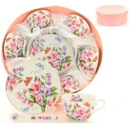 Купить Чайный набор с ложками Elan Gallery «Душистый цветок»
