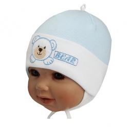 Купить Шапочка детская Shapochka Bear. Цвет: голубой, белый
